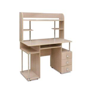 Картинка Компьютерный стол СК-12 Беленый Дуб дизайн-2 ракурс-1