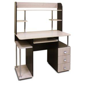 Картинка Компьютерный стол СК-12 Венге Беленый Дуб дизайн-1 ракурс-1