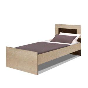 Картинка Кровать двуспальная Камелия 1400 Венге Беленый Дуб дизайн-1 ракурс-1