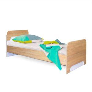 Картинка Кровать односпальная Фаворит-1 детская Дуб Сонома Белый Лед дизайн-1 ракурс-1