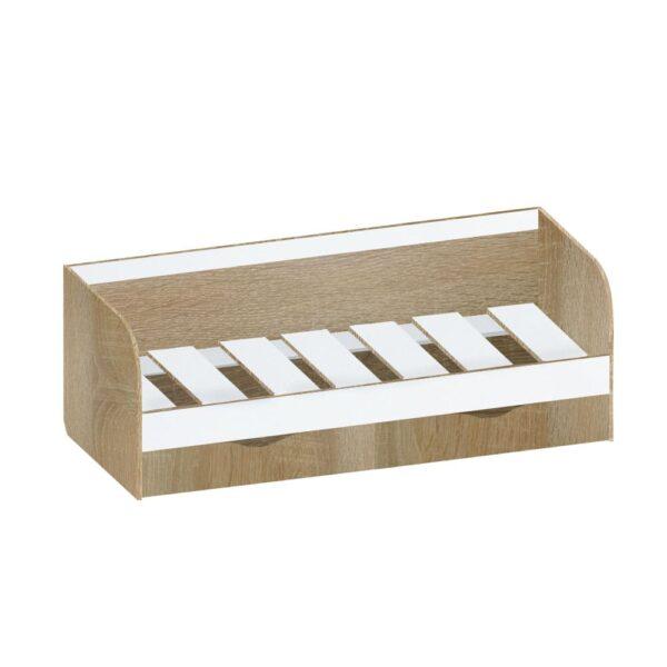 Картинка Кровать односпальная Фаворит-1 – 2 ящика Дуб Сонома Белый Лед дизайн-1 ракурс-1