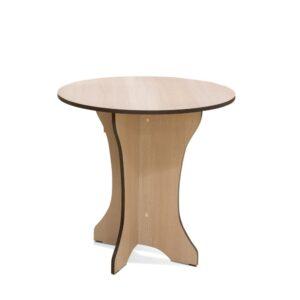 Картинка Круглый стол Весна-мини обеденный Беленый Дуб дизайн-1 ракурс-1