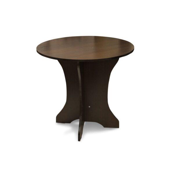 Картинка Круглый стол Весна-мини обеденный Венге дизайн-2 ракурс-1