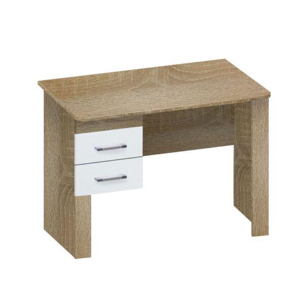 Картинка Письменный стол Фаворит-1 для школьника Дуб Сонома Белый Лед дизайн-1 ракурс-1