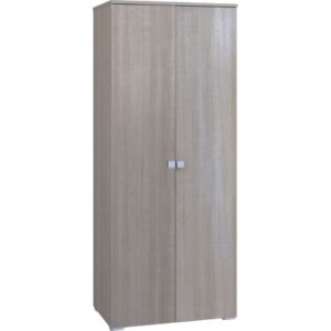 Картинка Шкаф Комфорт 2-х дверный Беленый Дуб дизайн-1 ракурс-1