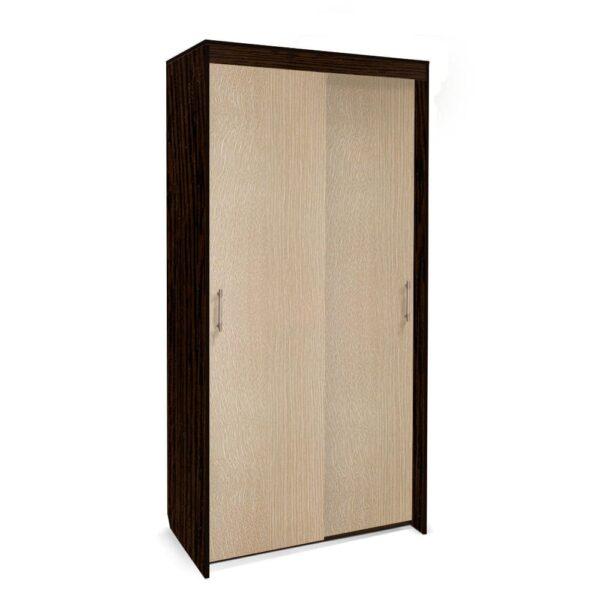 Картинка Шкаф-купе Камелия 2-х дверный Венге Беленый Дуб дизайн-1 ракурс-1
