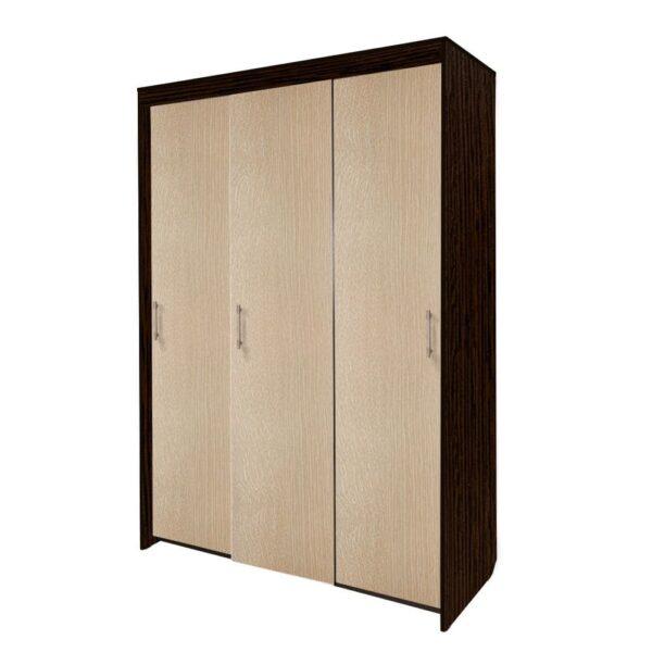 Картинка Шкаф-купе Камелия 3-х дверный Венге Беленый Дуб дизайн-1 ракурс-1
