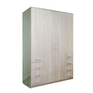 Картинка Шкаф 4-х дверный - 6 ящиков Ясень Светлый дизайн-2 ракурс-1