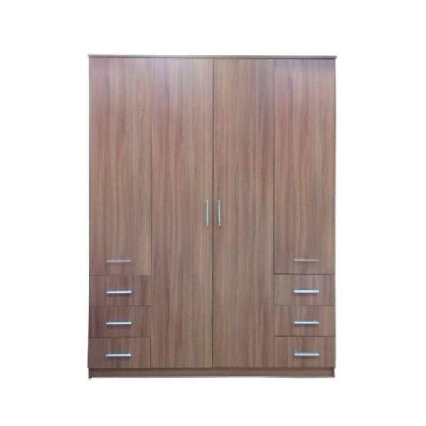 Картинка Шкаф 4-х дверный - 6 ящиков Ясень Темный дизайн-1 ракурс-1