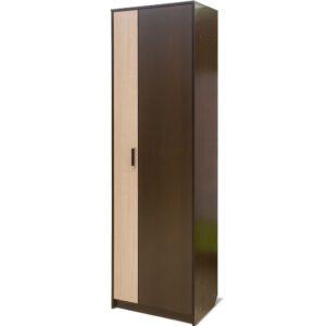 Картинка Шкаф-пенал Прихожая №5 Модуль №3 – 2-х дверный Венге Беленый Дуб дизайн-1 ракурс-1