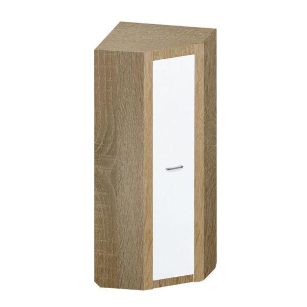 Картинка Шкаф угловой Фаворит-1 Дуб Сонома Белый Лед дизайн-1 ракурс-1