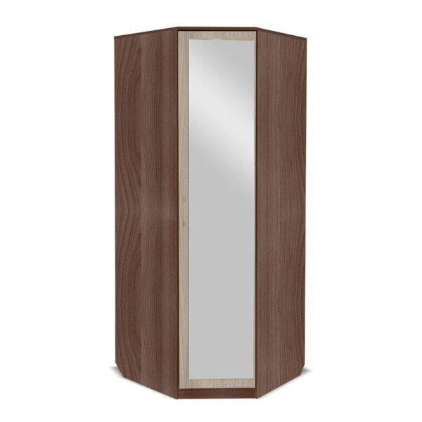 Картинка Шкаф угловой Камелия с зеркалом Ясень Темный Светлый дизайн-2 ракурс-1