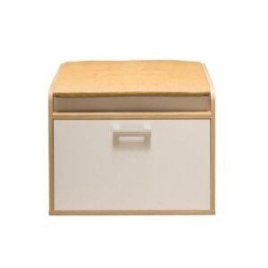Картинка Тумба для обуви №8 Дуб Сонома Белый Лед дизайн-2 ракурс-1